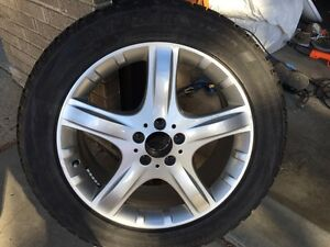Mercedes Benz genuine rims with winter tires