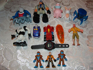 Boys Toy Figure Lot  Rescue Heroes, Watch, etc