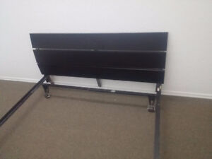VERY MODERN LOOKING DOUBLE SIZE HEAD BOARD AND CAST IRON FRAME