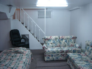 Furnished basement bachelor apartment for rent in Deep River