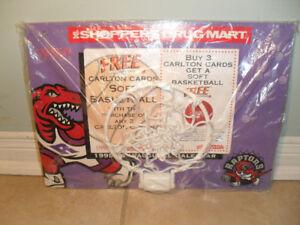 Vintage Toronto Raptors Mini Basketball Backboard/Net 1995