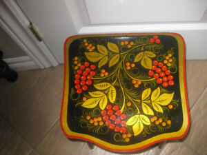 Wooden Stool Hand Painted