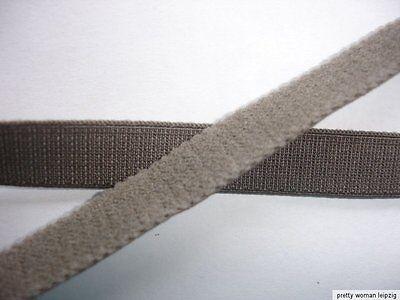 10m Gummiband 0,23€/m graubraun  10mm breit Trägerband TA38