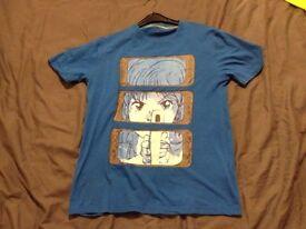 Genuine Cyberdog London shirt. Blue Manga design. Club, rave.