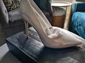 DUNE Black Sand 'Bryleig' Ladies Women Designer High Heel Diamond Heel