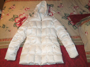 Marvin Richards Women's White Quilted Down Coat- Large