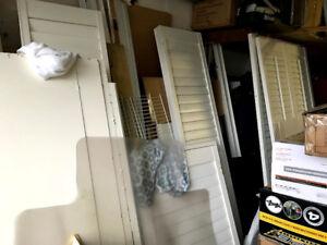 California shutter window patio door column 15 lite glass door 3