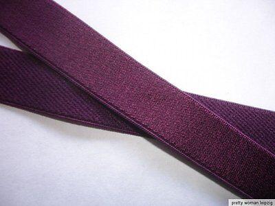 10m Gummiband 0,25€/m Trägerband Farbe vino 14mm breit IG15