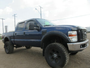 LIFTED-2008 FORD F350SD-DIESEL-DVD-HDTV-NAVI-DUAL EXHAUST-LEATHE