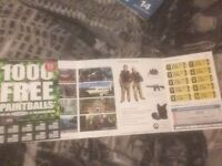 X10 paint ball tickets !! £70 for all + 1000 balls