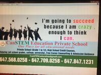 Private School(Grade 1 to 12, All Subject), Credit Courses,Tutor