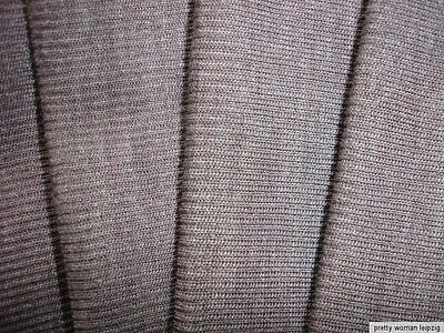 1 Lfm Schlauchstoff 5,70€/m² Strickschlauch Wolle Rippstrick braun PC49