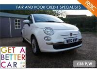 FIAT 500 1.2 LOUNGE - 12 REG - 25K - £38 PW - FAIR & BAD CREDIT FINANCE