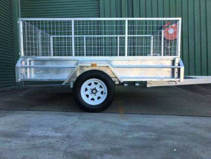 8x5 Box Trailer Upgradeable with 600mm cage!! Tipper and Tough!! Gatton Lockyer Valley Preview