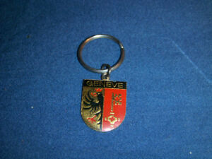 GENEVE-GENEVA CREST KEYCHAIN-UNIQUE & COLLECTIBLE