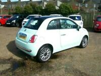 2014 Fiat 500 1.2 Cult 3dr,Full leather,Pan roof,£30 tax,Only 47k fsh. HATCHBACK
