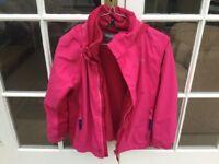 Girls fleece and raincoat