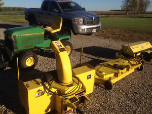 445 john Deere tractor with attachments