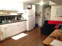 One room for rent in a two bedroom basement apartment