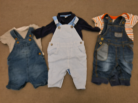 Baby dungarees x3 sets