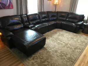 Sofa sectionnel en cuir BLISS