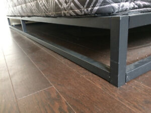 King size black metal bed frame - nice styling, very solid