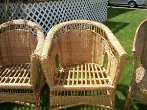 Four Wicker Chairs Hand Made in Africa