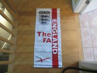BIG ENGLAND FA SOCCER BANNER. PERFECT CONDITION