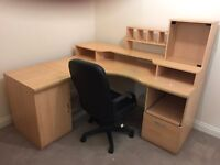 Home office - Office Desk, Swivel Chair, Wooden Chair and Book case