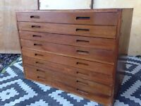 Plan chest architects drawers