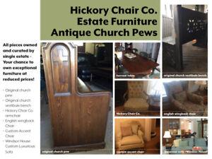 Antique Church Pew - Custom Furniture - Estate Pieces