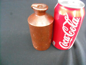 Small Antique Stoneware Bottle with Spout