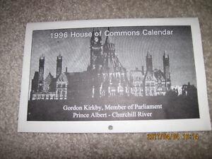 1996 House of Commons Calendar