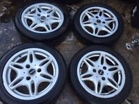 "15"" SMART FORTWO ALLOY WHEELS SET OF 4"