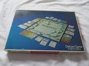 MONOPOLY DELUXE jeu game PARKER ANGLAIS ENGLISH VERSION