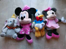 Disney Mickey Minnie mouse Dumbo Donald large soft toys
