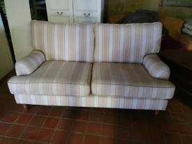 Marks and spensers M&S 3 seat designer sofa suite cream stripe design