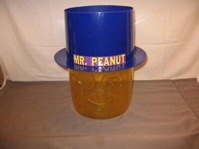 "Vintage Mr. Peanut Head Counter Top Display 12"" Height Plastic VGC"