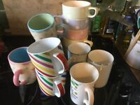 Bundle of twelve mugs