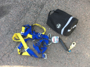 Rebel Retractable Lanyard + Harness System roofing construction