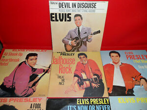 10 Elvis Singles 1957 to 1962 $100.  In unplayed condition. Prince George British Columbia image 2