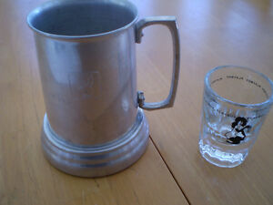 VINTAGE PLAYBOY STEIN AND SHOT GLASS