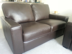 Palliser Genuine Leather Couch & Love Seat
