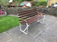 Garden bench salvaged/restoration.