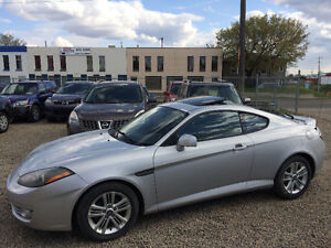 2008 HYUNDAI TIBURON GS, ONLY 124000kms, SUNROOF, NO ACCIDENTS