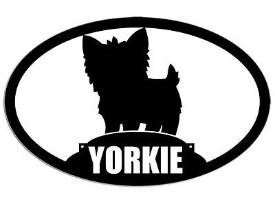 3x5 inch Oval YORKIE Sticker - decal dog breed fun love cute yorkshire terrier