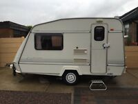 ELDDIS Force 350/2 berth touring caravan EXCEPTIONAL CONDITION with MOVER & 2 AWNINGS!!