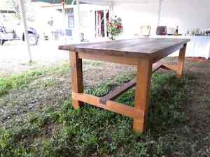 Huge harvest style table. 8ft long.  Peterborough Peterborough Area image 4
