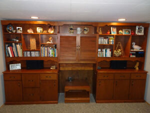wall shelving/storage unit - will sell separate modules