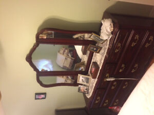 Bedroom suite for sale-French provincial style.  5 pieces